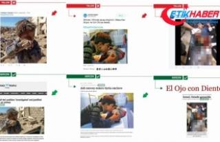 PYD/PKK destekçileri, Afrin yalanlarına yine çocukları...