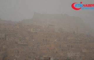 Suriye üzerinden gelen toz zerrecikleri Mardin'de...