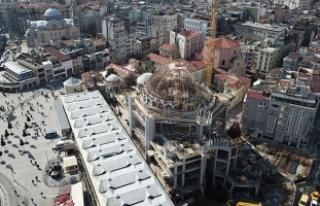 Taksim Camii'nde kaba inşaatın yüzde 80'i...