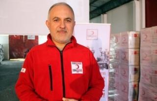 Türk Kızılayı Afrin'e tır dolusu 'iyilik'...