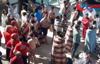 71 öğrenci ve 6 mürettebat kurtarıldı