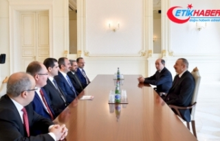 Adalet Bakanı Gül, İlham Aliyev'le görüştü