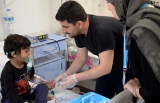Afrinli çocuğun imdadına Türk doktorları yetişti