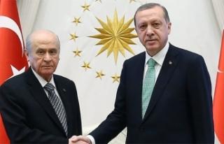 Cumhurbaşkanı Erdoğan ile MHP Lideri Bahçeli yarın...