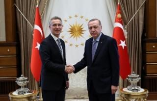 Erdoğan, NATO Genel Sekreterini kabul etti