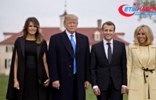 Fransa'da Trump'a üst düzeyde ağırlama