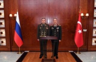 Orgeneral Akar, Rus mevkidaşıyla görüştü