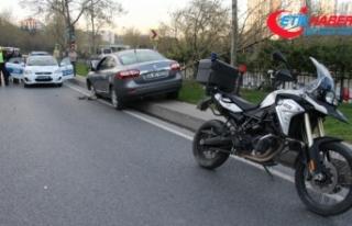 Şişli'de polis aracı kaza yaptı: 2 yaralı