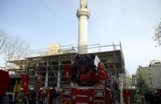 Teşvikiye Camisi'nde yangın