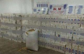 35 bin 600 paket kaçak sigara yakalandı