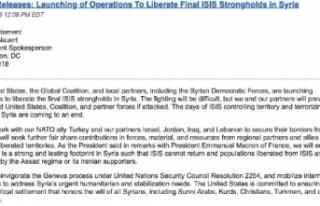 ABD'den IŞİD'e yönelik operasyon açıklaması