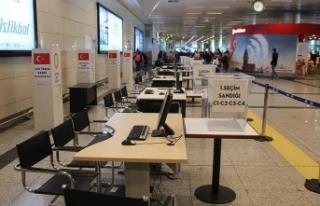 Atatürk Havalimanı'nda seçim hazırlıkları...