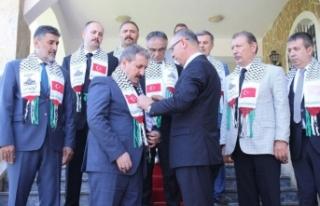 BBP lideri Destici'den Filistin'in Ankara...