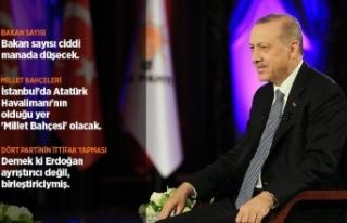 Cumhurbaşkanı Erdoğan: Bakan sayısı ciddi manada...