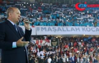 Erdoğan: Milletin huzuruna kastedenlere buraları...