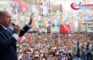 Erdoğan: Türkiye'yi şaha kaldıracağımızın...