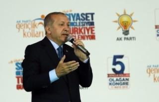Erdoğan gençlere seslendi: Sorun onlara...