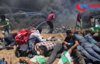 Gazze'deki gösterilerde 52 Filistinli şehit...