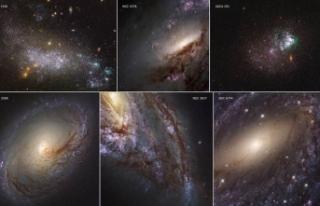 Hubble'in çektiği en yakın galaksilerin görüntüleri...
