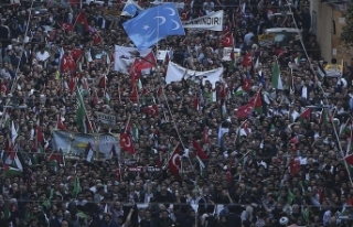 İstanbul'da İsrail ve ABD protestosu