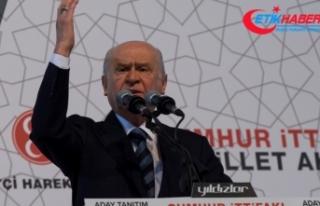 MHP Lideri Bahçeli, Seçim Beyannamesini Açıkladı