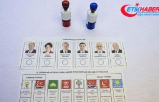 Oy pusulaları basına gösterildi