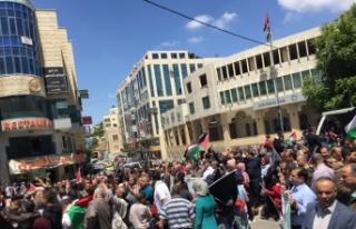 Ramallah'ta ABD protestosu
