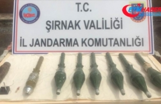 Şırnak'ta PKK'ya ait patlayıcı ve mühimmat...