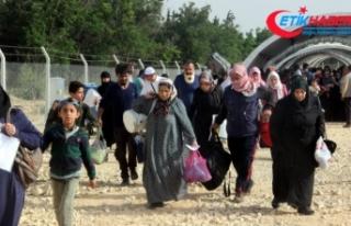 Suriyelilerin ülkelerine gidişlerinde yoğunluk