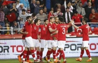 Türkiye'nin FIFA dünya sıralamasındaki yeri...