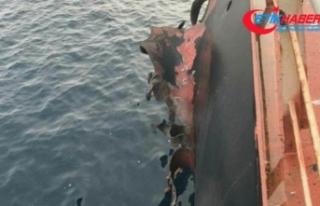 Yemen'e buğday götüren Türk gemisinde patlama