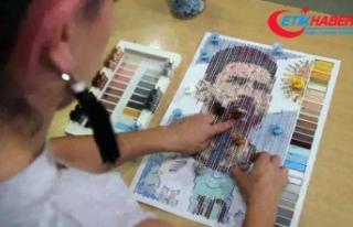 6 bin tel tokadan Messi portresi