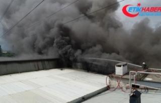 Bursa'da soğuk hava deposunda yangın