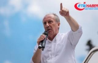CHP'nin cumhurbaşkanı adayı İnce: Kanal İstanbul'u...