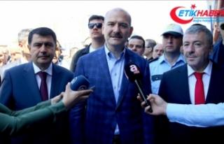 İçişleri Bakanı Soylu: Ekiplerimiz 24 saat esasına...