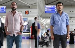 Kahraman polisler havalimanında çalışmaktan vazgeçmiyor