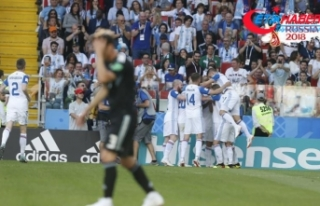 Messi penaltı kaçırdı Arjantin, İzlanda'yı...