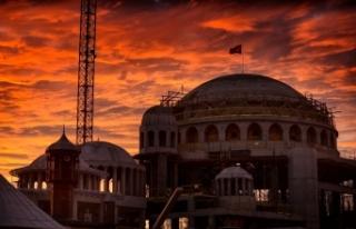 Taksim Camii'nde gün batımı