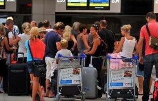Antalya'ya havayoluyla gelen turist sayısı...