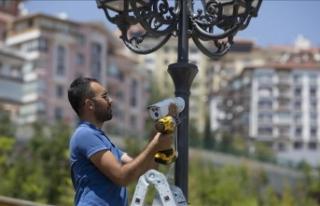 Başkentteki parklara güvenlik kameraları yerleştirilmeye...