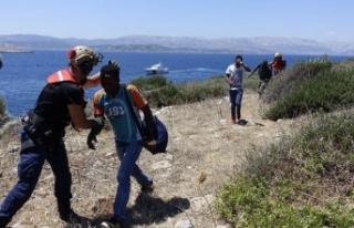 Boğaz Adası'nda mahsur kalan göçmenlerin...