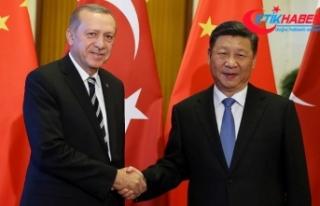 Cumhurbaşkanı Erdoğan, Çin Devlet Başkanı Şi...