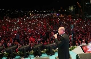Cumhurbaşkanı Erdoğan 15 Temmuz anma programında...