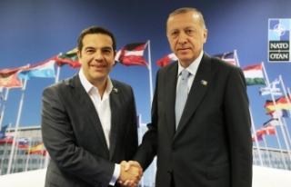 Cumhurbaşkanı Erdoğan ile Yunanistan Başbakanı...
