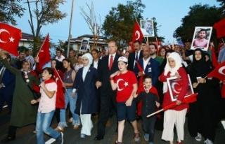 Cumhurbaşkanlığından '15 Temmuz' yürüyüşüne...