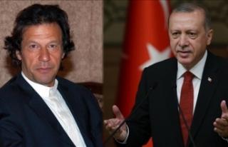 Erdoğan'dan İmran Han'a tebrik telefonu