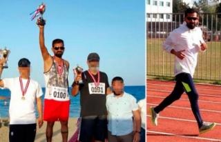 Firari katil zanlısı Kıbrıs'ta maraton koşusunda...