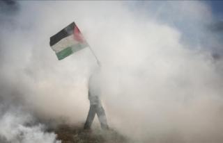 Gazze'deki gösterilerde yaralanan 1 Filistinli...