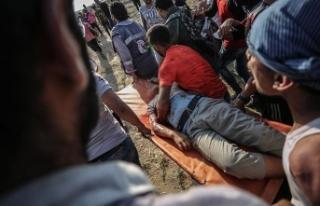 Gazze'deki gösterilerde yaralanan Filistinli...