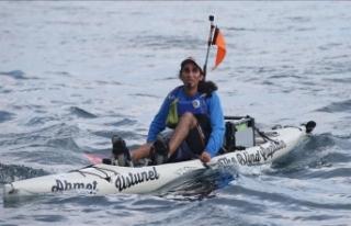 Görme engelli öğretmenden kanoyla kıtalar arası...